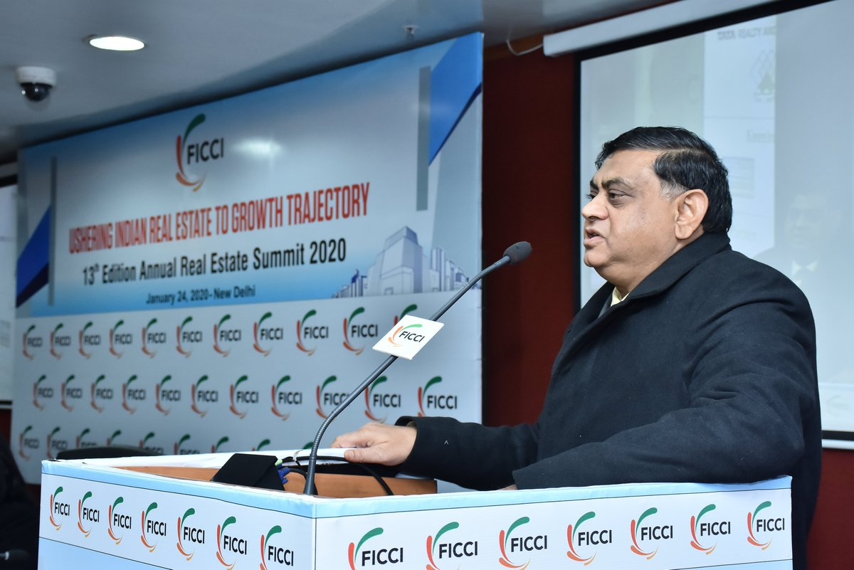 Real Estate sector growth is important for growth of the economy: Mr KK Khandelwal, Chairman, Haryana- RERA at FICCI Annual #RealEstate Summit 2020.<br>http://pic.twitter.com/UHb7nXUzxC