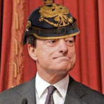 Image for the Tweet beginning: Mario Draghi, fervido europeista, nei