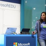 Image for the Tweet beginning: Microsoft at Bett 2020: in