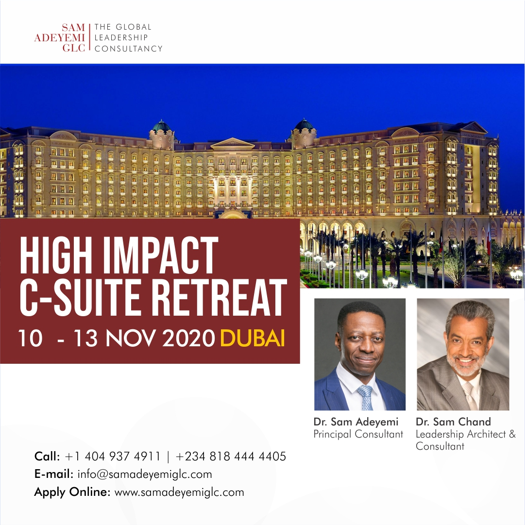 Growth equals change; change equals loss; loss equals pain; so inevitably, growth equals pain - Dr Sam Chand.  Lead your organisation successfully today. Contact the team now at info@samadeyemiglc.com  #saglc #csuiteretreat #dubai2020 #samadeyemi #samchandpic.twitter.com/Wo0j0Bjw38