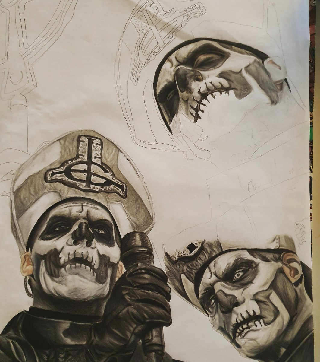 Home stretch, prints available when finished @thebandGHOST #papaemeritusii pic.twitter.com/licCdGSf9g