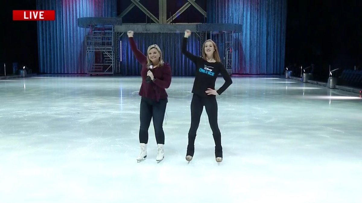Yee Haw 🤠😂 learned choreography from @DisneyOnIce's Toy Story segment! @news4buffalo
