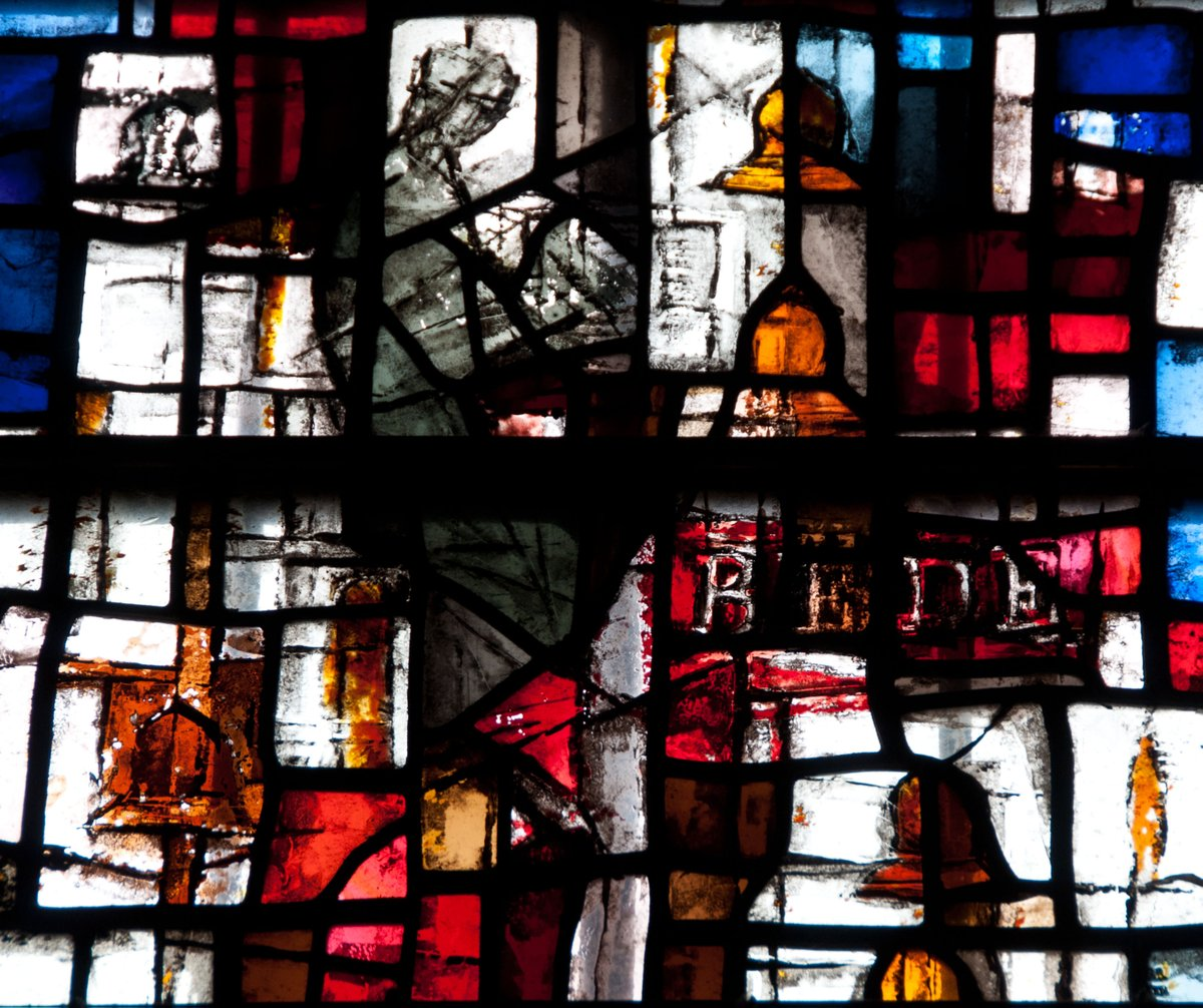 Did you know the Bede Window was created to commemorate the 1300th anniversary of the birth of St Bede?   #stainedglass #Bede #DurhamCathedral #YearOfPilgrimage #Pilgrimage2020
