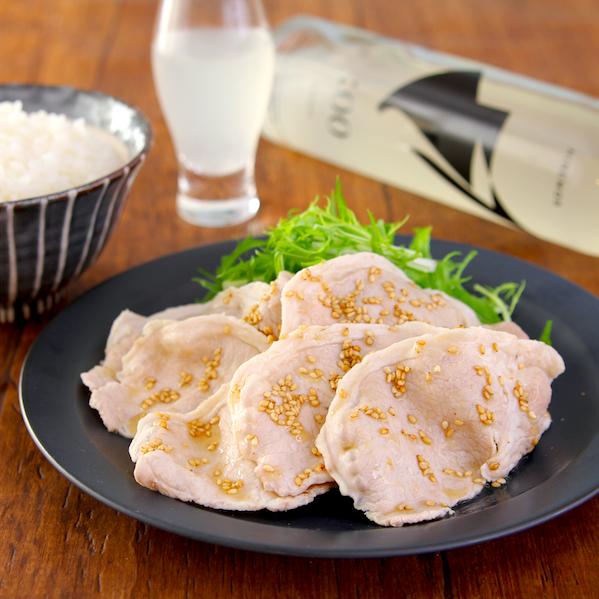 【豚しゃぶのうま塩だれ】このタレでお肉ずっと食べてたい…