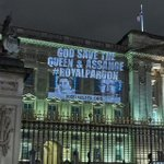 PixelHELPER has been in #London in the past few days to support #JulianAssange. A light projection on the #BuckinghamPalace demands his pardon from the #Queen. A royal pardon & intervention by the head of state saves the journalist. https://t.co/fUsNQ46akA #FreeAssange