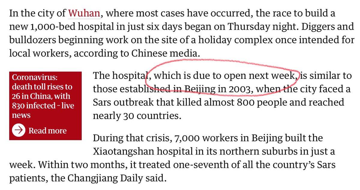Astonishing detail from Guardian story on Coronavirus.