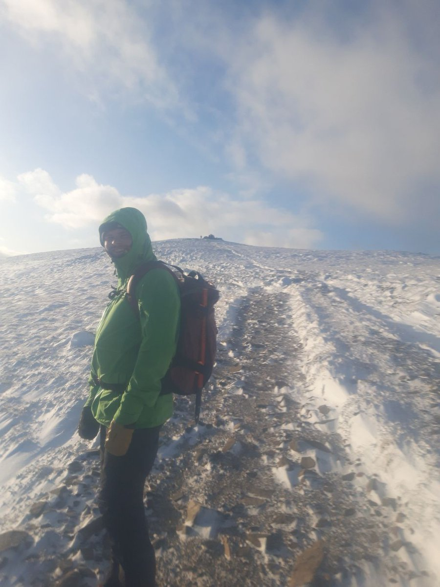 Smiles near the summit!   Winter mountaineering brings a whole load of extra challenges and considerations to take account for; that doesn't it any less enjoyable though!  #guidebase #hillwalking #UKscrambling #mountaineering #climbing #adventure #winter #nature #scotland