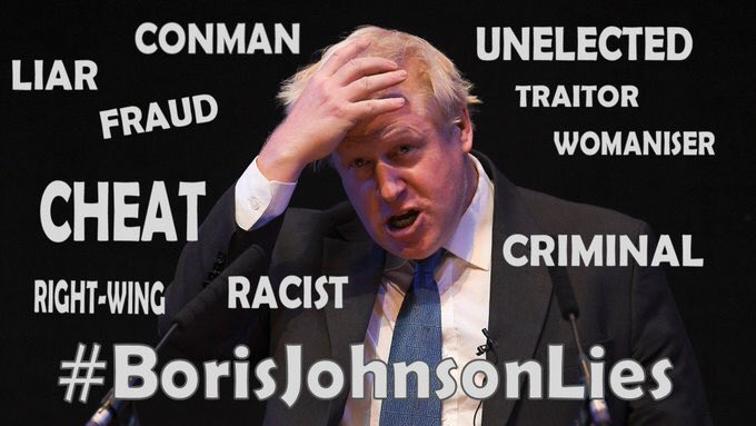 @BorisJohnson THERE IS NO LONGER A UNION YOU HAVE DESTROYED IT #notmygovernment #notmyprimeminister JUST A LOUD MOUTHED MALIGNANT NARCISSIST WHO IS NOT FIT TO BE PM.  HATE YOU FOR DESTROYING MY HOMELAND<br>http://pic.twitter.com/Rpy56AC2lx
