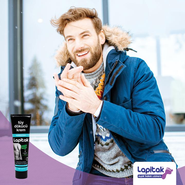 Kış mevsiminde de bakımlı görünümünden ödün vermek istemeyen erkekler için Lapitak Tüy Dökücü Krem ile istenmeyen tüylere pratik ve acısız çözüm. #lapitak #bakım #sağlık #bakımzamanıpic.twitter.com/EeAzgU5haP