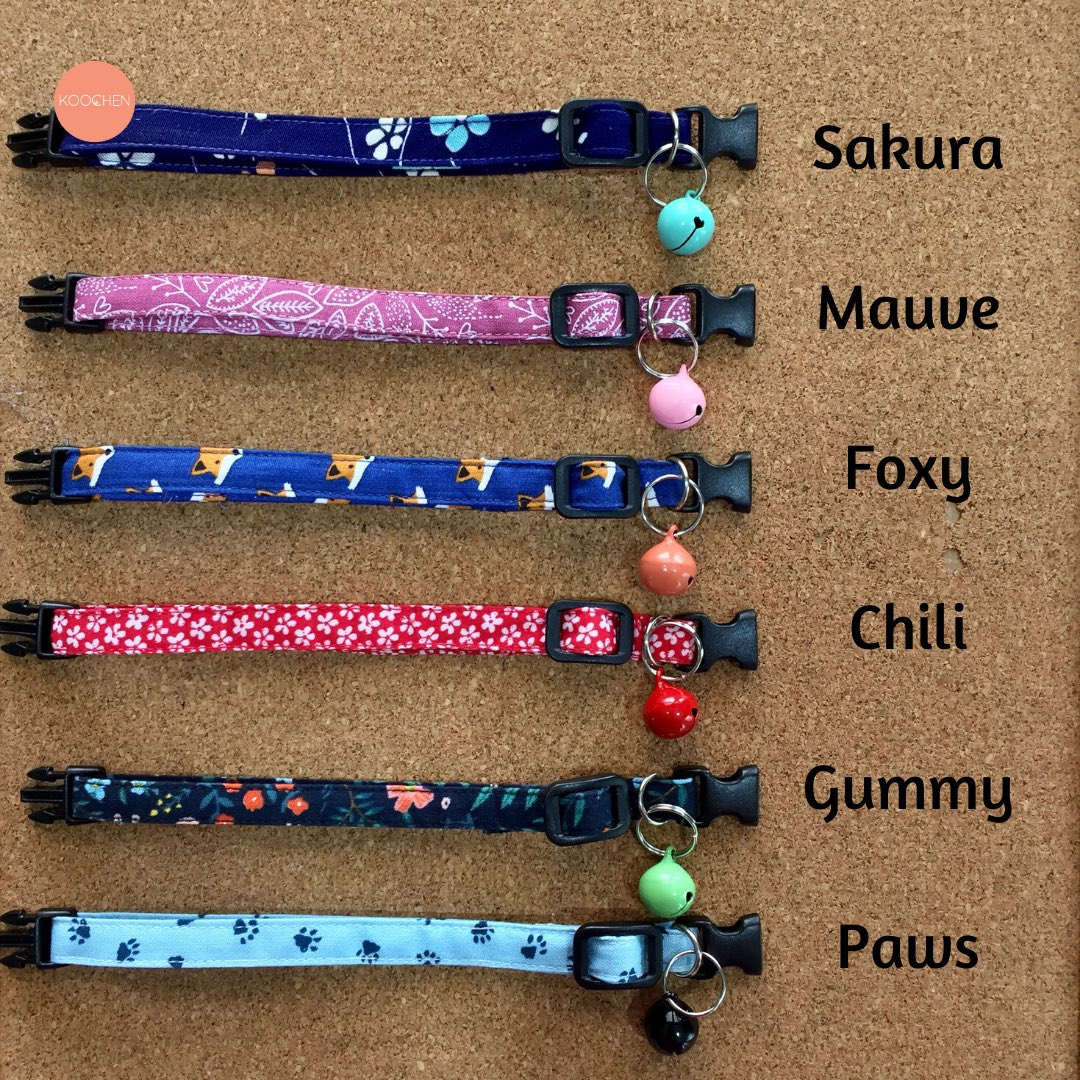 ATTENTION TO ALL CAT LOVERS   We just launched our first Koochen collar collection!!   They're homemade, they're exclusive and they're SO CUTE!   Pick one design for your koochen now!  <br>http://pic.twitter.com/NSDOeJDBql