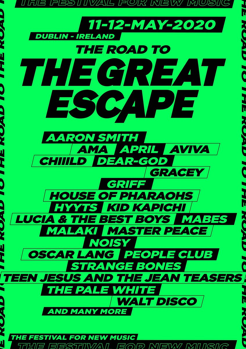 ON SALE NOW // Tickets for the @GreatEscapeIRE are on sale now from @TicketmasterIre
