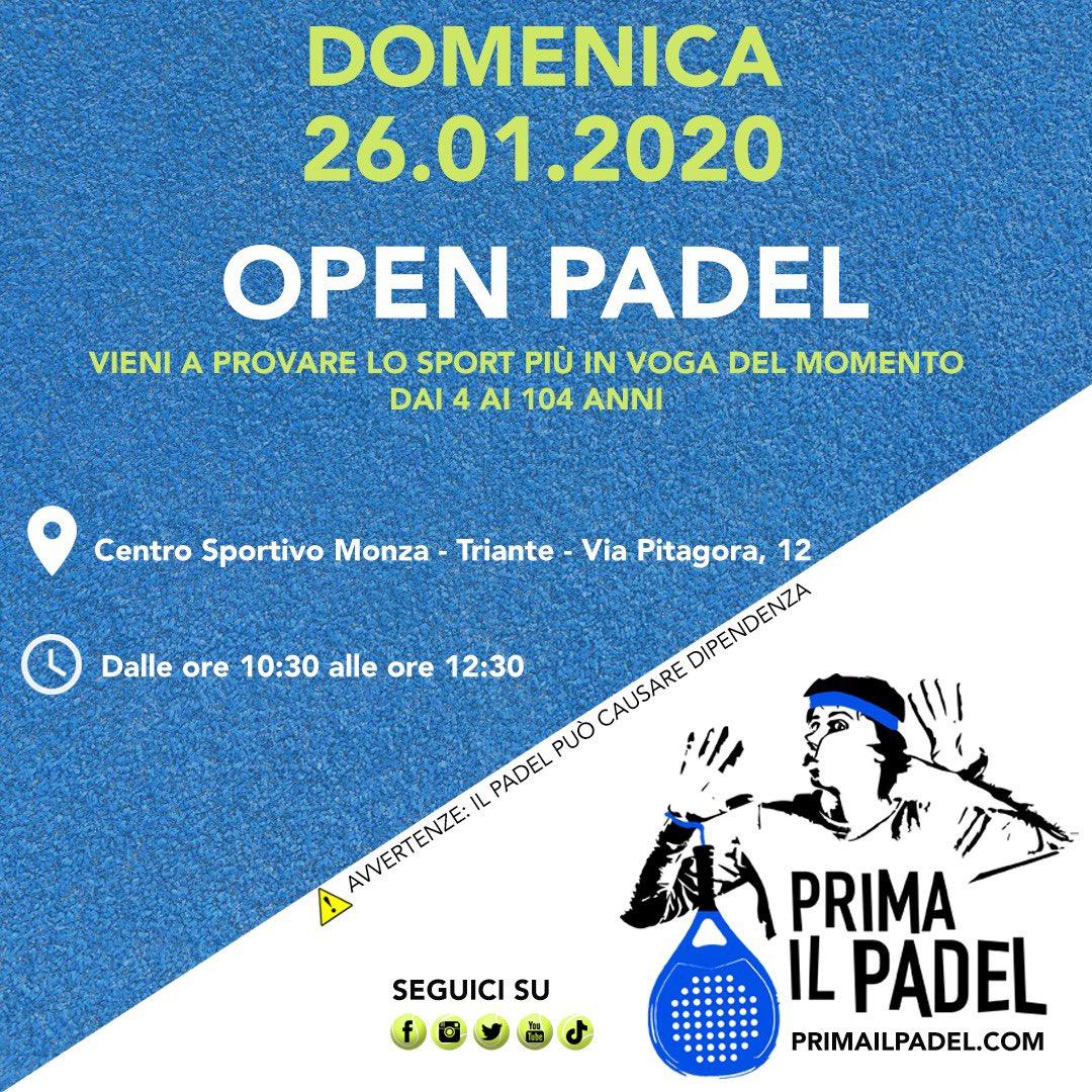 Vi aspettiamo a Monza domenica 26.01 dalle ore 10.30 per provare lo sport più in voga del momento. #primailpadel #monza #padel #WorldPadelTour #padelitaliano #padelmania #paddle @PIFFERPAOLOpic.twitter.com/pTe1oP1v9O