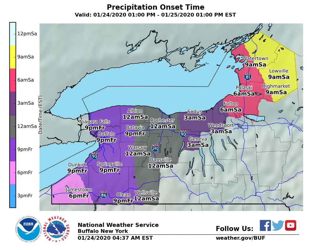 Sloppy weekend coming up: Mix of rain, ice