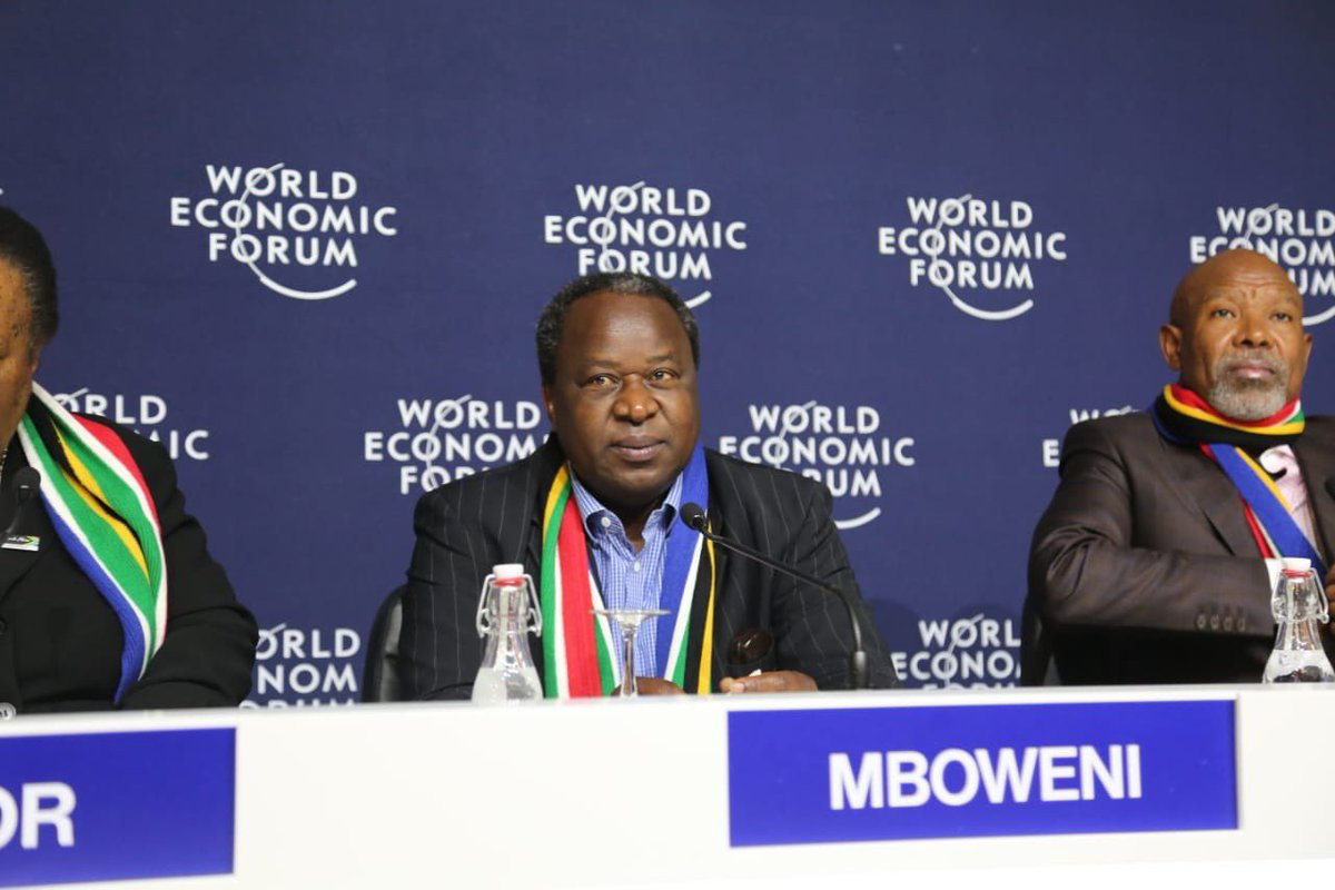 Image result for Tito Mboweni   davos