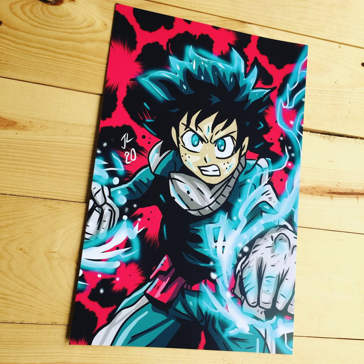 This #Deku #anime #fanart print is #ArtOfTheDay! Order your custom #posters today. https://www.printkeg.com/collections/poster-printing…