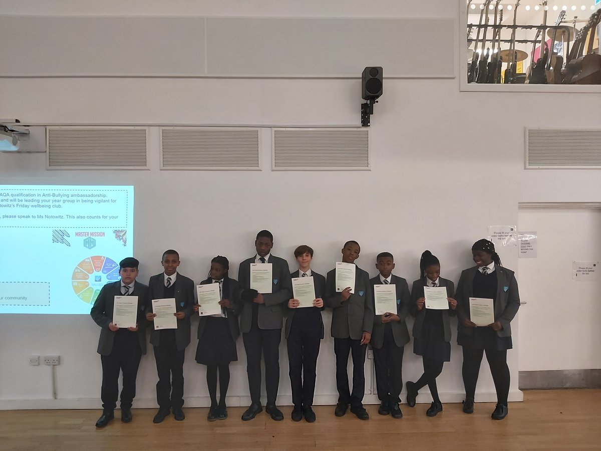 test Twitter Media - Congratulations to our Year 9 students who received an AQA qualification in Anti-Bullying. They received training from Young Hackney, and will continue to model these values in our school community. #responsibility #curiosity #selfbelief https://t.co/0ZG3Or8Yox