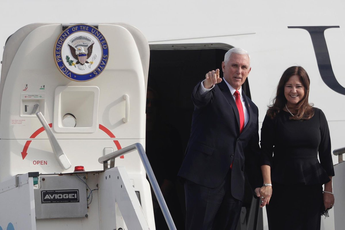 Welcome to Rome, Vice President @Mike_Pence! Ambassador Gingrich and Speaker Gingrich were honored to greet the Vice President and @SecondLady as they arrived today in the Eternal City. #VPintheVatican #USHolySee (AP Photo/Gregorio Borgia)