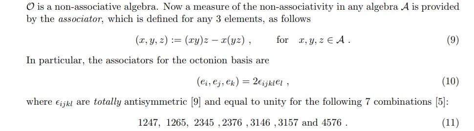 @7shi @k_nitadori @adhara_mathphys @neet2go 結合子については、Matrix Representation of Octonions and Generalizationsに画像の式がありました。