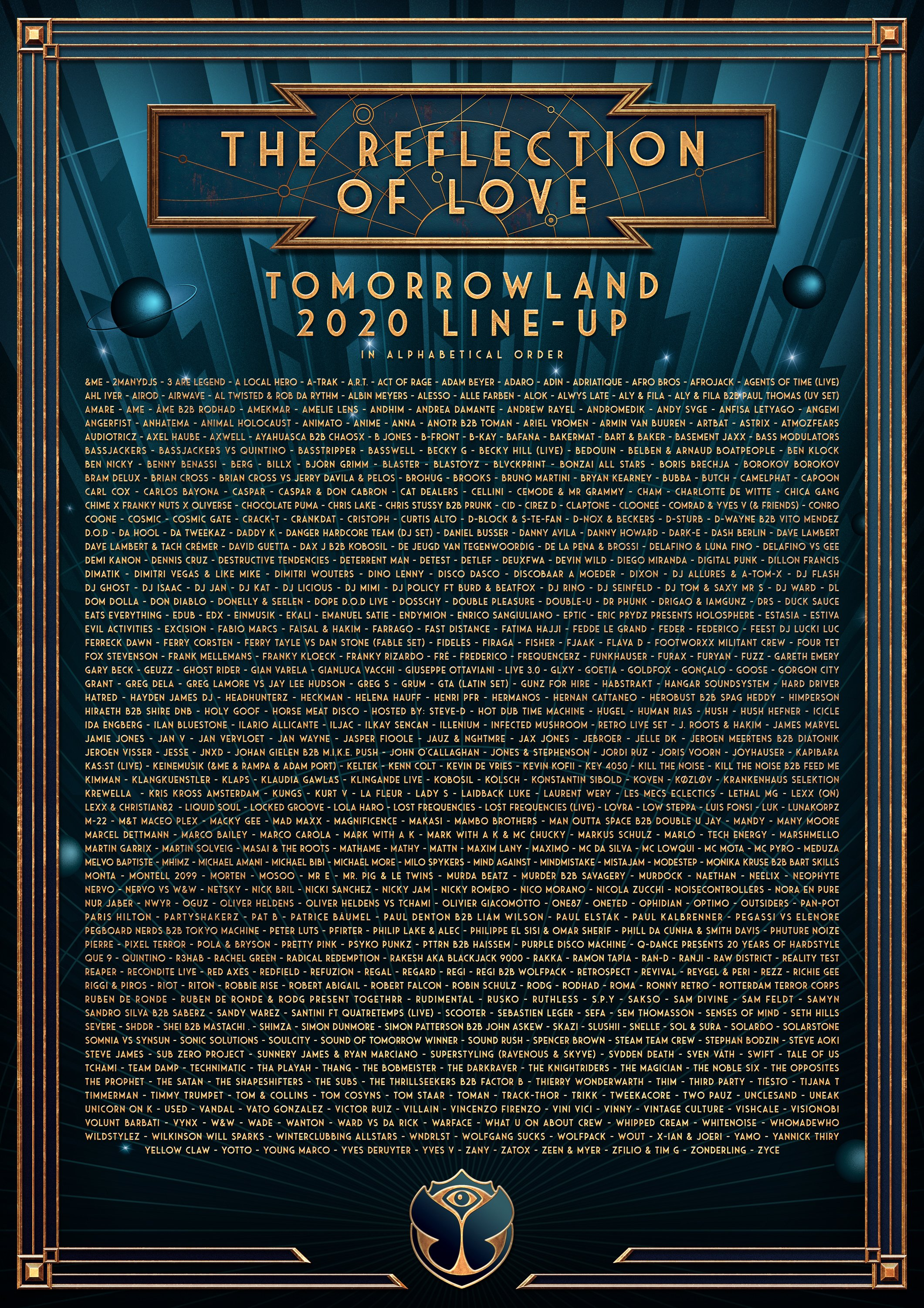 Tomorrowland lineup 2020