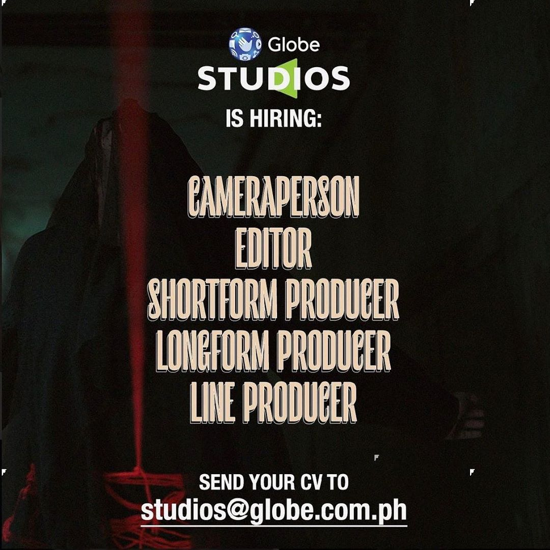 Globe Studios the Producers of #Birdshot and #DeadKids is now hiring!