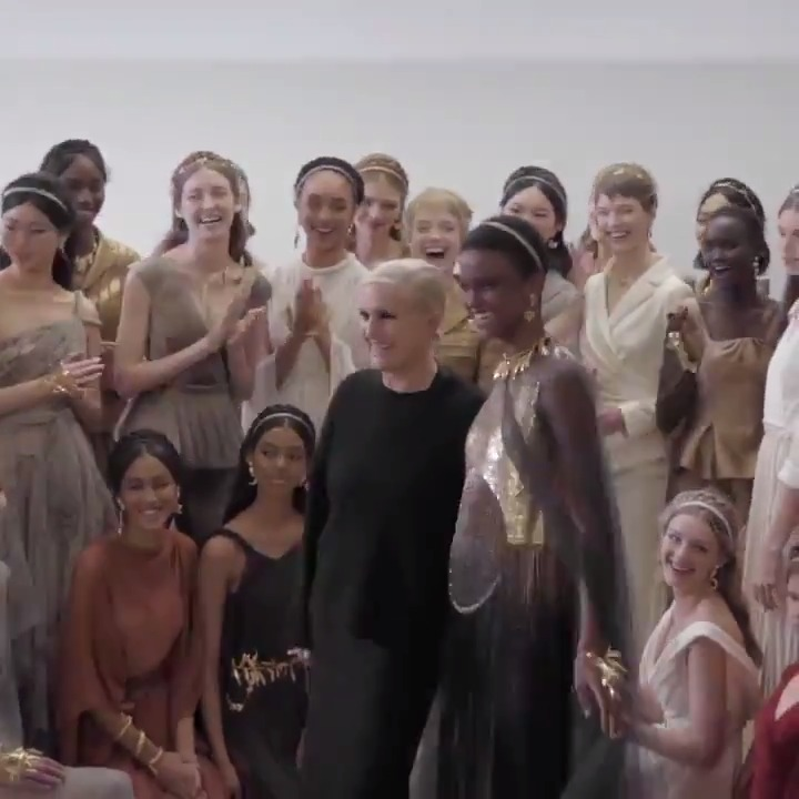 The #DiorCouture Spring-Summer 2020 collection drew upon inspirations ranging from antiquity to contemporary feminist art. Creative Director Maria Grazia Chiuri sits down to discuss how these came together into a compellingly coherent whole. More on.dior.com/hautecouturess….