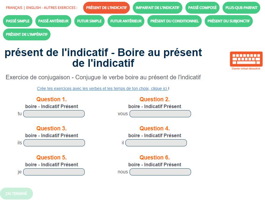 Ortholud Com On Twitter Exercice De Conjugaison Boire Au Present De L Indicatif Conjugue Le Verbe Boire Au Present De L Indicatif Https T Co Jbe3kpq2ft Https T Co Rw84madnuc
