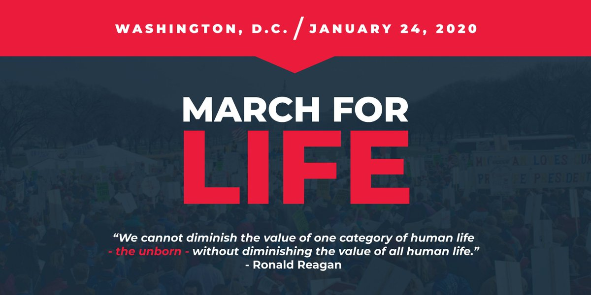 Every human life has God-given worth and value. As thousands march in the streets of our nation's capital, we reaffirm our commitment to protecting ALL American lives—especially those of the unborn.