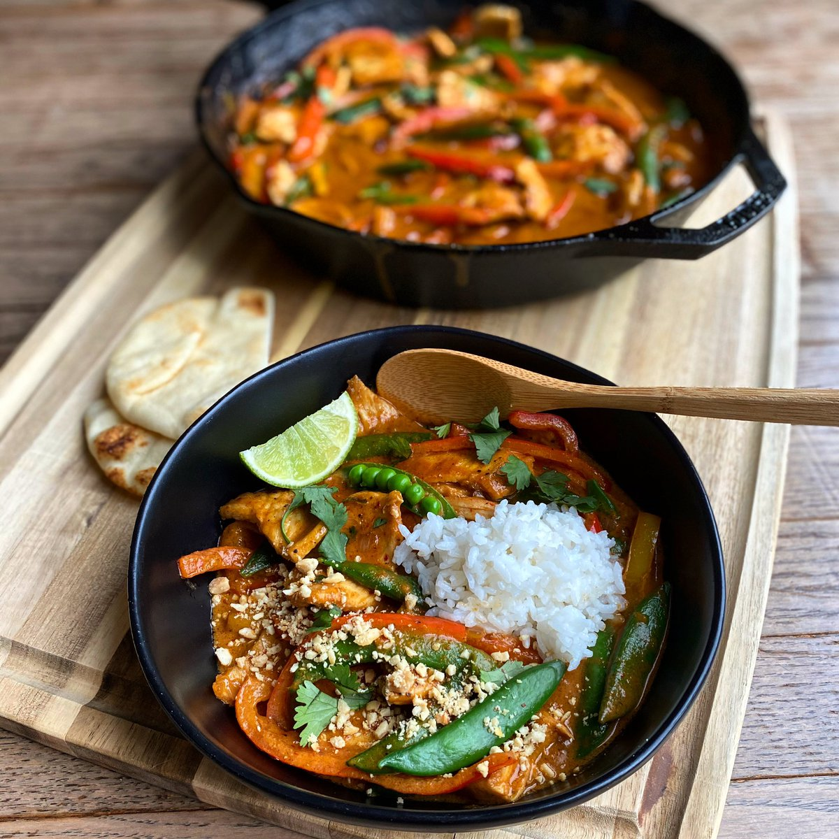 Pimp my rice. Parang Curry with Chicken and Rice. Being of Korean descent, the curry I grew up with is radically different than any other Asian curry. It just took smelling someone's Panang Curry to blow my mind. Dang  #foodnetworkkitchen #foodnetwork <br>http://pic.twitter.com/ns73RVuYQ3