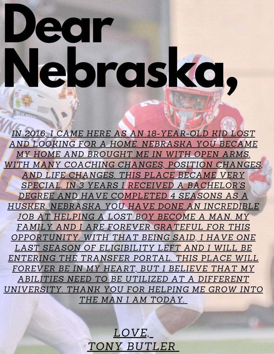 Nebraska CB Announces Transfer Decision
