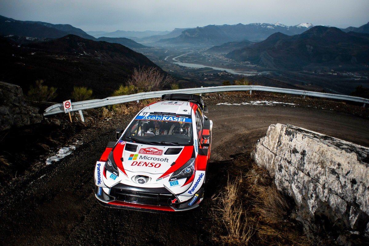#WRC Sebastien Ogier cierra el segundo día del Rallye Monte Carlo como líder en una jornada marcada por la salida de carretera de Ott Tanak. Tras Tc8 1 Ogier 2 Evans +1,2 3 Neuville +6,4 4 Loeb +1:06,9 5 Lappi +1:57,2 6 Rovanpera +2:19,2 7 Katsuta +5:18,7 8 Camilli +8:06,2