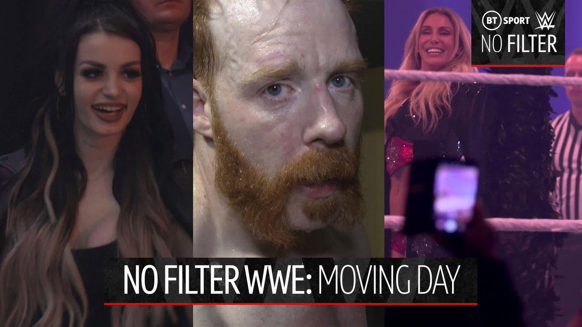 WWE becoming part of the BT Sport family called for a huge celebration 🙌#NoFilterWWE: Moving DayA number of Superstars joined us in London, with @WWESheamus even getting his road to the Royal Rumble started 👀#WWEonBT