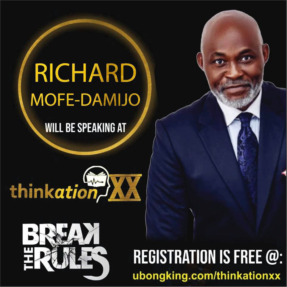 Richard Mofe-Damijo, RMD @mofedamijo as he is popularly known and fondly referred to is the biggest male actor to come out of Nigeria in particular and Africa as a whole. He will be at #ThinkationXX. Dont miss this. You can watch it via live stream!