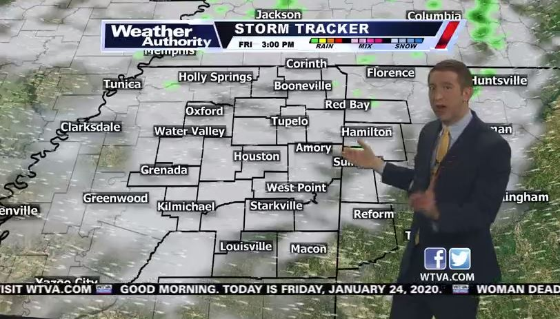 Some light showers or drizzle will be possible today... But your Saturday is looking much nicer with chilly temps and some sunshine. #mswx #alwx THE LATEST: https://bit.ly/2RnsZzJ