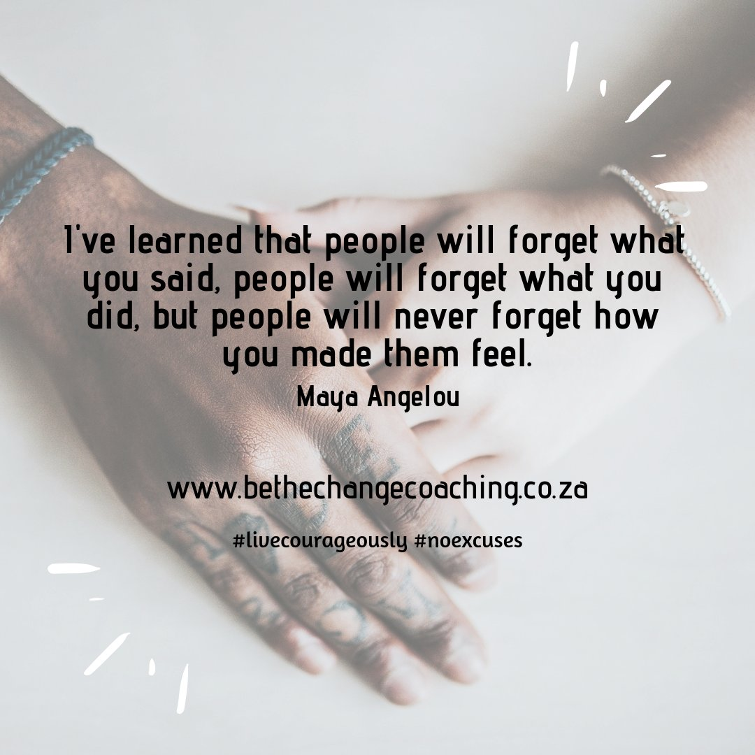How do you want people to feel?  Be the Change Coaching | Systemic Business, Life & Recovery Coaching  #livecourageously #noexcuses #itaboutyou #20intentions2020 #beyourchange2020 #authenticme #selflove #mastercoach #recoverycoach #systemiccoaching #UACT #IMCSA #ICR #CPRCpic.twitter.com/cRUCmP9W8l