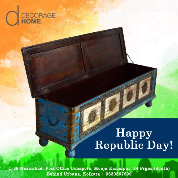 Celebrating the largest democracy on its #RepublicDay #HappyRepublicDay #DecorageHome #DistressedFurniture pic.twitter.com/pclsLExOz5
