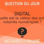 Image for the Tweet beginning: Un #acte notarié #numérique a-t-il