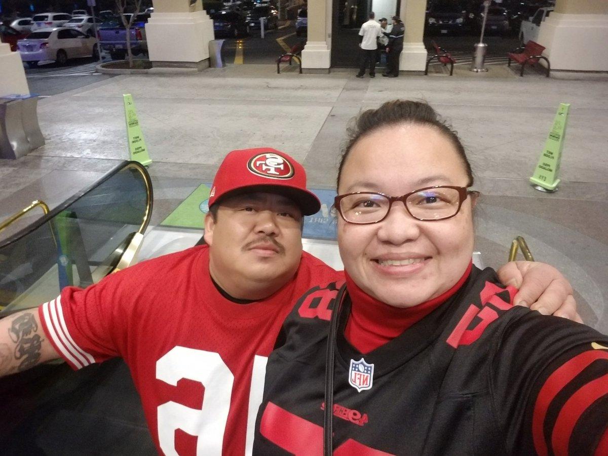 Excited to meet @ESanders_10 tomorrow in San Jose!! #QuestForSix #49ers #foreverfaithful #faithful #ninerempire