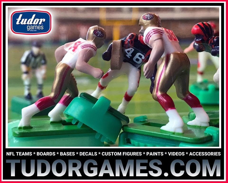 Today in NFL History: 1/24/82 San Francisco #49ers beat Cinncinati #Bengals 26-21 in #SuperBowlXVI. Every #NFL Team and everything #ElectricFootball http://TudorGames.com #SuperBowl #NFLPlayoffs #NFL100