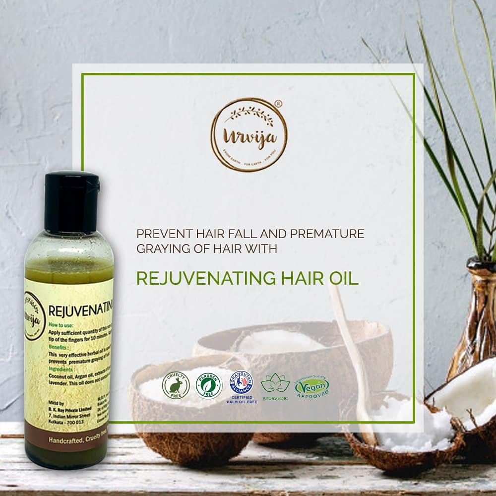 A unique blend of coconut oil with herbs and essential oils that helps prevents hair fall, dryness and control frizziness. ... #MyUrvija #Urvija #Skincare #HairOil #HairCare #HairSpa #OrganicHairCare #Hair #CleanBeuaty #NaturalProducts #SustainableBeauty #VeganProducts pic.twitter.com/2PIow7nTz5