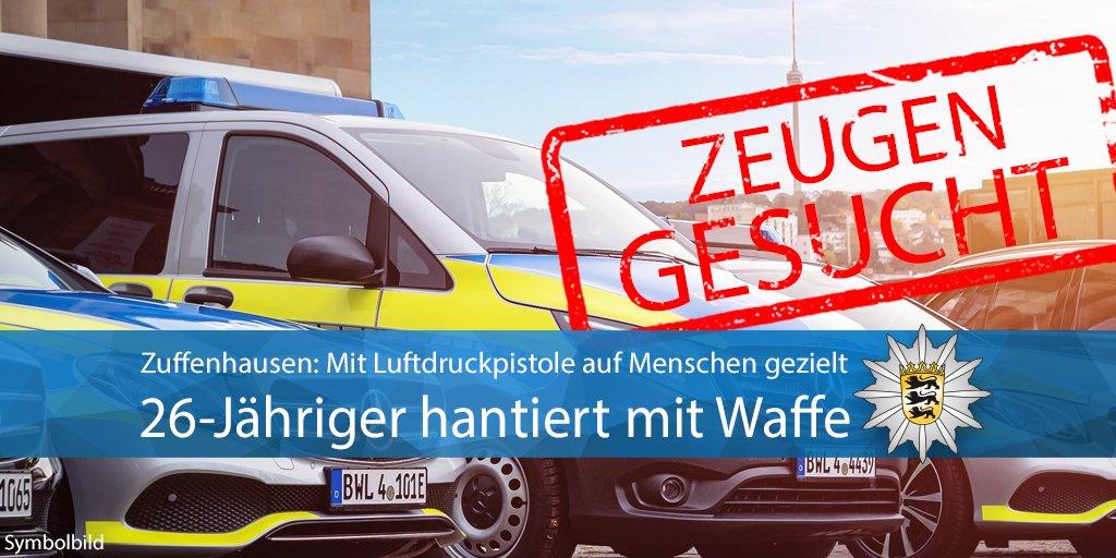 #Zuffenhausen Gestern Abend hat ein 26-Jähriger an der Burgunderstraße offenbar aus einem Auto heraus mit einer Luftdruckpistole auf eine Personengruppe gezielt. Wir suchen Zeugen. Zur Pressemeldung http://bitly.com/2vhnUjP Eure #Polizei #Stuttgartpic.twitter.com/5NOQ0w0M8I