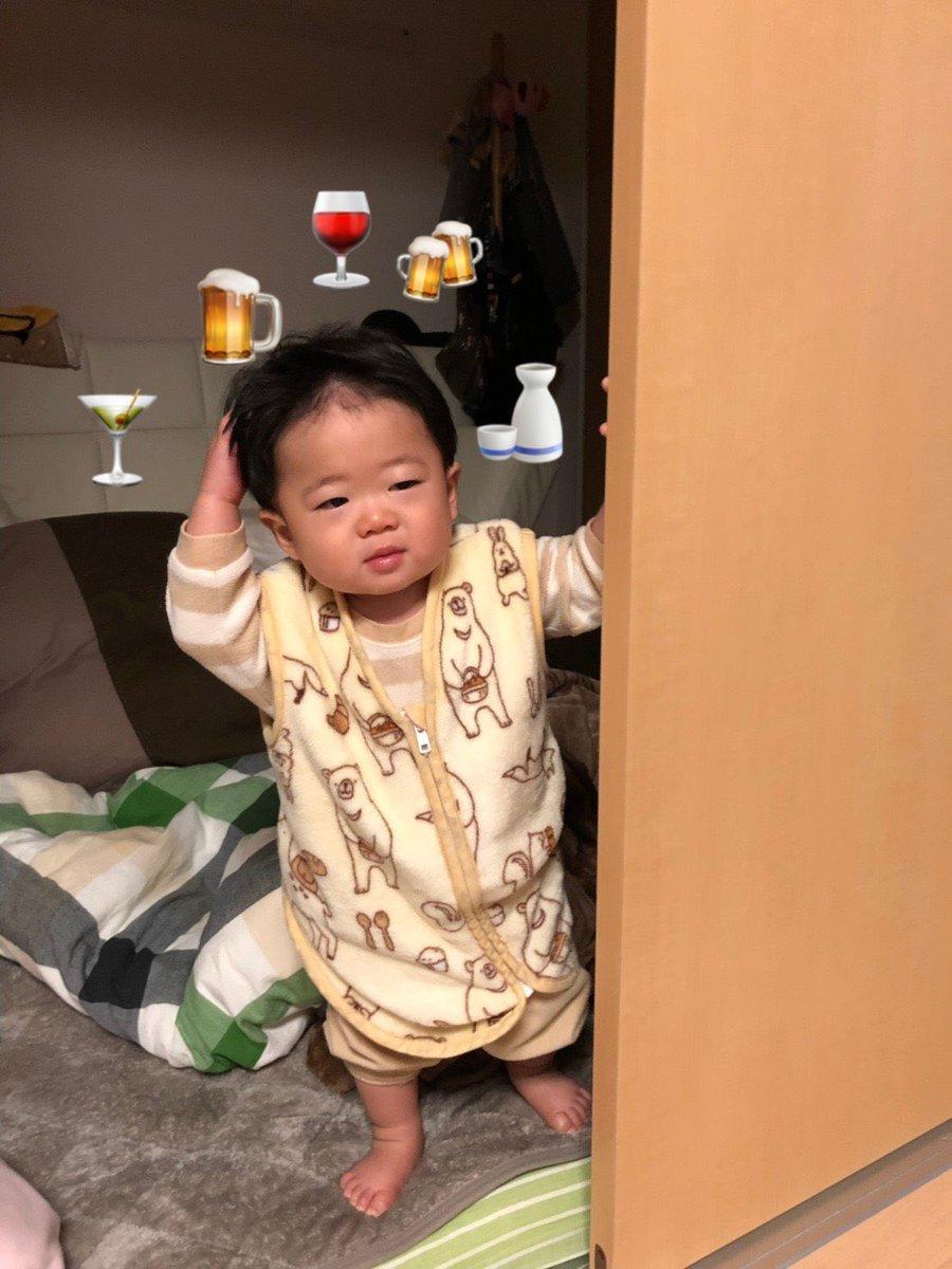 二日酔いのおじさんが起きてきたと思った(笑) #育児衝撃画像