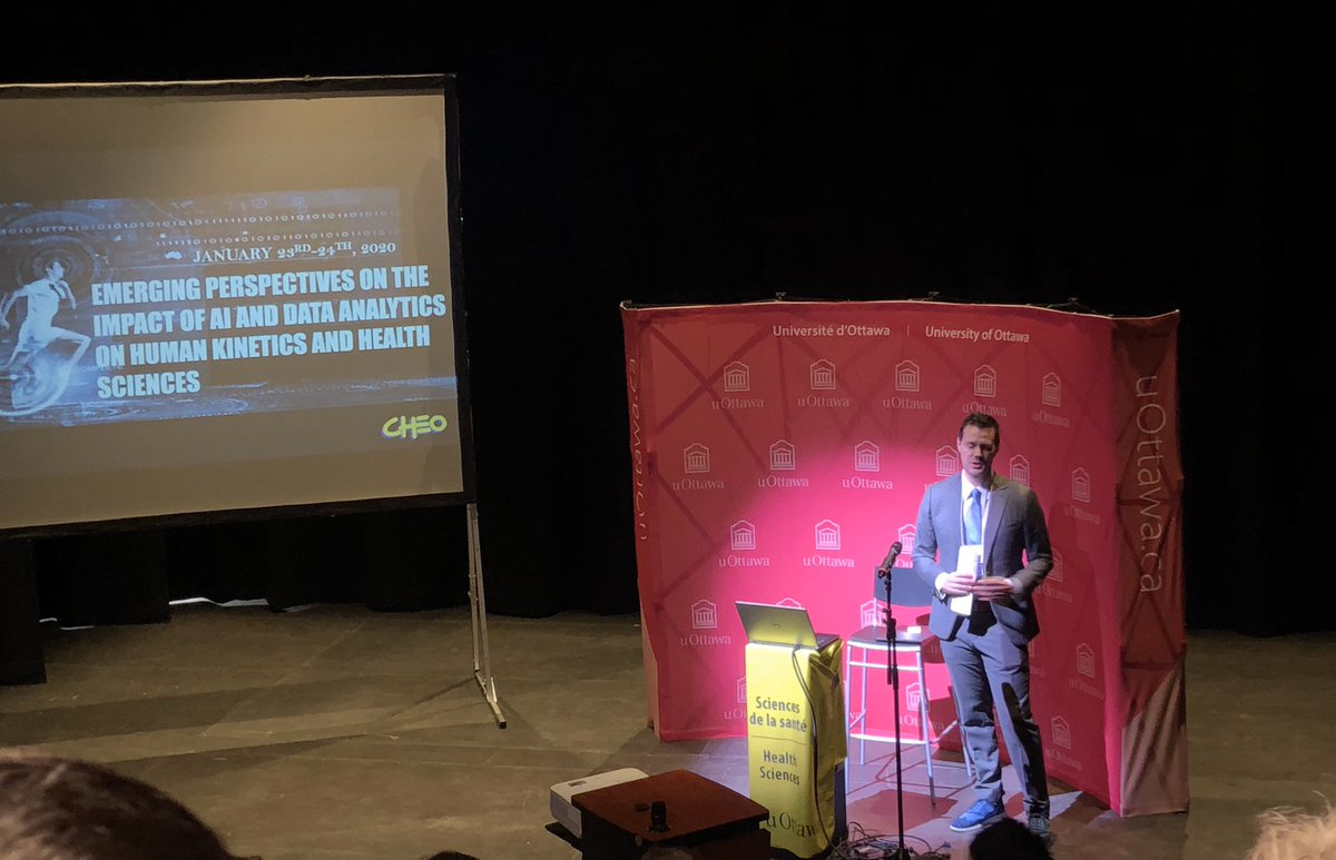 Who's excited for this  huge S/O to @GrahamLab1 for one stellar conference  emerging perspectives #ArtificialIntelligence & #humankinetics @uOttawaHK @uOttawaResearch  up first #keynote @UCalgary Dr Ferberpic.twitter.com/ziFzmL3Dhl