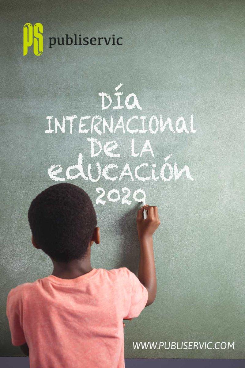 24 / 01 📅 #DíadelaEducación #unesco La educación es un derecho humano, un bien público y una responsabilidad colectiva #publiservic comparte en sus redes esta campaña educando por la preservación del planeta, construir la prosperidad y promover la paz 💚 https://t.co/jLJxVmB54g https://t.co/HNPfY3yz8X