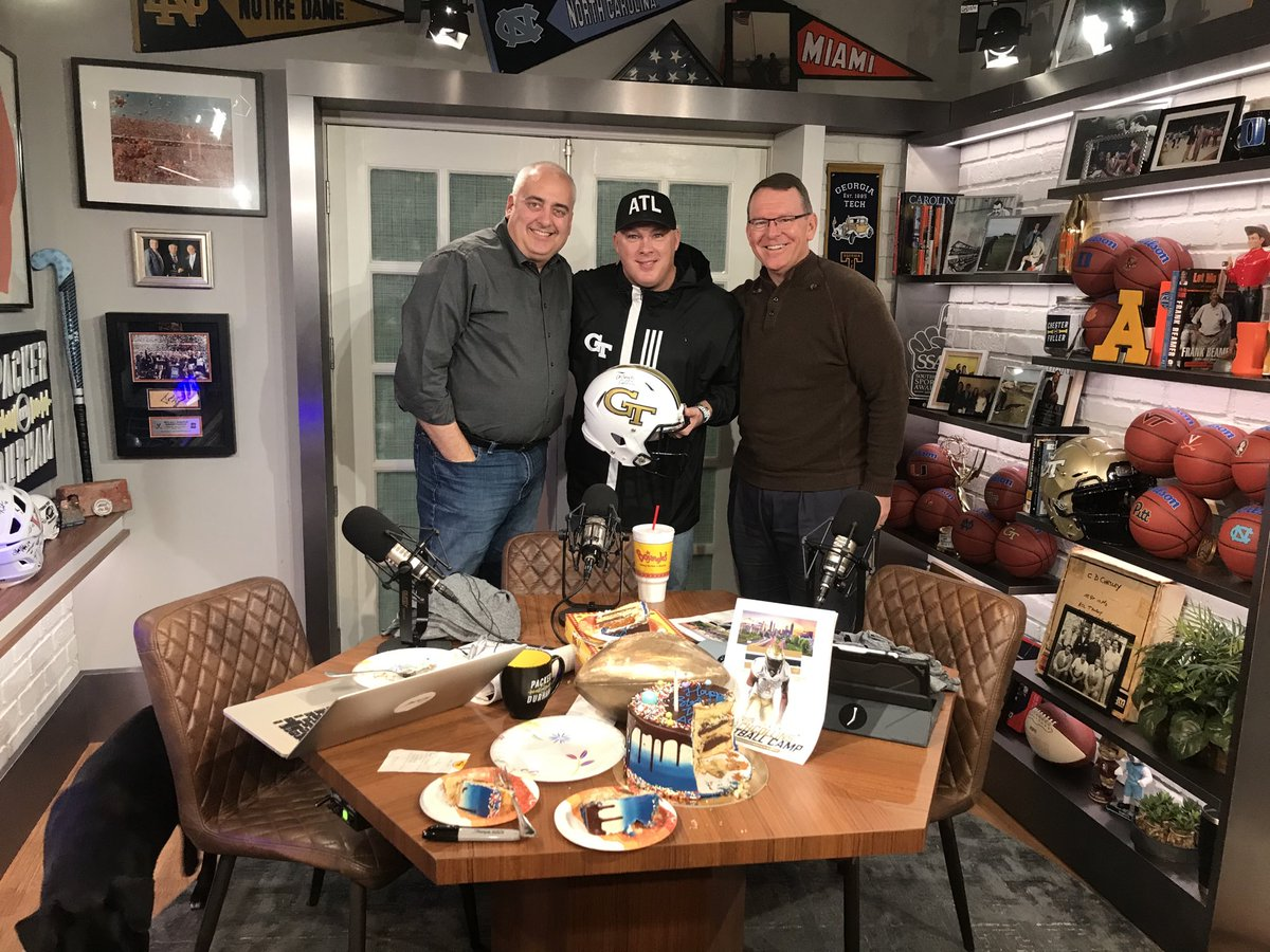 """It was great having @CoachCollins visit the basement on """"Packer and Durham""""."""