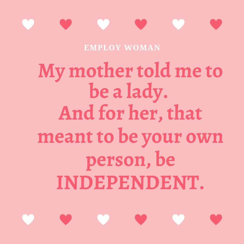 My #mother told me to be a #lady. And for her, that meant to be your own #person, be #INDEPENDENT. -- Ruth Bader Ginsburg  #feministfridays #feminism #employwoman #empowerwomen #genderequality #educationequality #equality  #equalityforall #equalityforeveryone #equalityforwomenpic.twitter.com/VbHRzX49r9