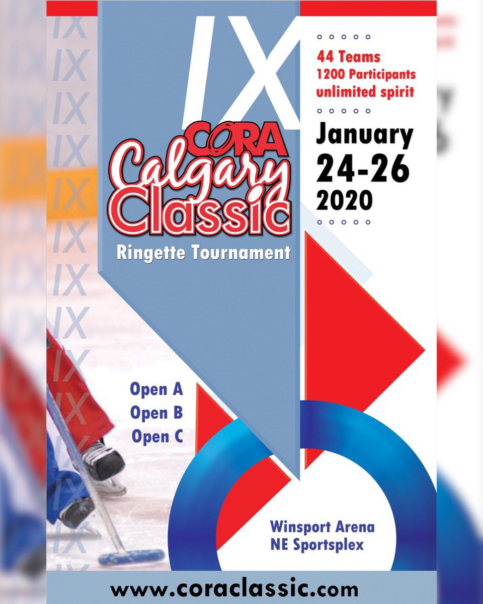 The 9th Annual CORA Classic is here! Can't wait to see you all at the rink today!  #coraclassic2020 #ringette #ringetteab #ringettecanada #ringettecalgary #tournamenttime #playitloveitliveit #monsportmapassionpic.twitter.com/U5hlS8mnJH