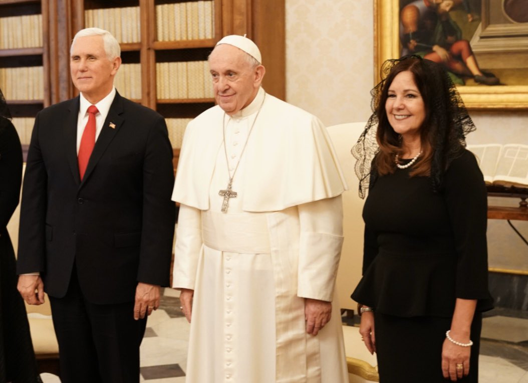Today, @SecondLady  and I had the high honor of meeting with @Pontifex  at the Vatican. We discussed today's March for Life, Venezuela, and displaced religious minorities in the Middle East. Thank you for your warm hospitality during this special visit.