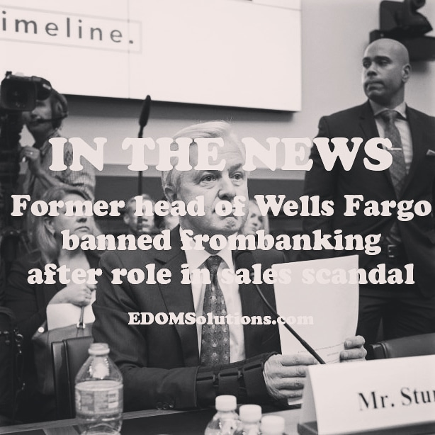 Former head of Wells Fargo banned from banking after role in sales scandal #EDOMSolutions #inthenews #managementconsultingfirm #banking #wellsfargo #businessmanagementfirm #businessmind #investigation #ceo #Banks #expert #nbc #nbcnews https://www.nbcnews.com/business/business-news/former-head-wells-fargo-banned-banking-after-role-sales-scandal-n1121396…pic.twitter.com/t6XTK0PY9r