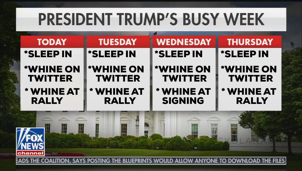@GoldyTheGFish @revrrlewis @atrupar It's always whine o'clock at the White House