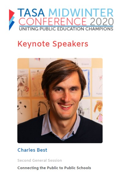 Excited to head to #TASA20  this weekend to help #Texas  public schools benefit more from @DonorsChoose . @CharlesBest  will be keynoting and sharing some surprises. Come visit our special showcase to learn what weve done for your district and how we can help!